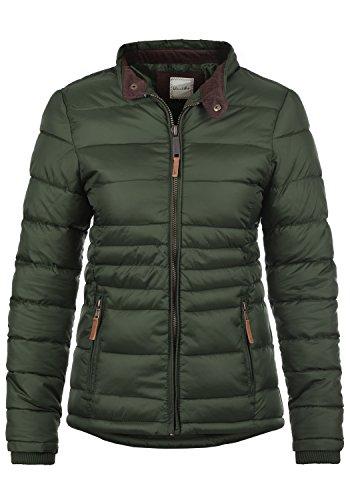 Blend SHE Cora Damen Übergangsjacke Steppjacke leichte Jacke gefüttert mit Stehkragen, Größe:L, Farbe:Duffle Bag Green (77019)