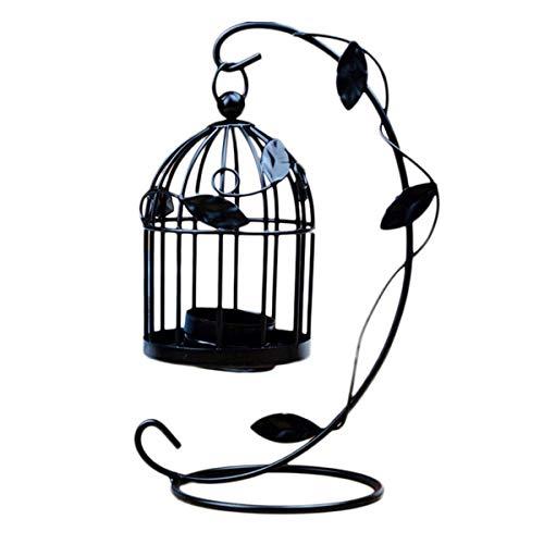 Ruikey Bougeoir Cage à Oiseaux Vintage Bougeoirs Lanternes Bougie Chauffe-Plat Bougie Support Chandelier pour Intérieur et Jardin