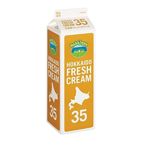 中沢乳業 北海道フレッシュクリーム35(1000ml)x6個セット 冷蔵