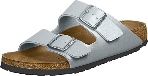 Birkenstock Women's Mule Sandal, ICY Metallic Anthracite, 7.5 us