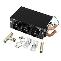 Jaimenalin 車自動車ヒーター、3穴加熱、 12V 24W 、ポータブル、デフロスターデミスター、トラック扇風機