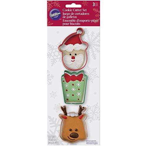 Wilton Set 3 TAGLIABISCOTTO Buon Natale Set 3 TAGLIABISCOTTO Buon Natale, Acciaio, Colori Assortiti,