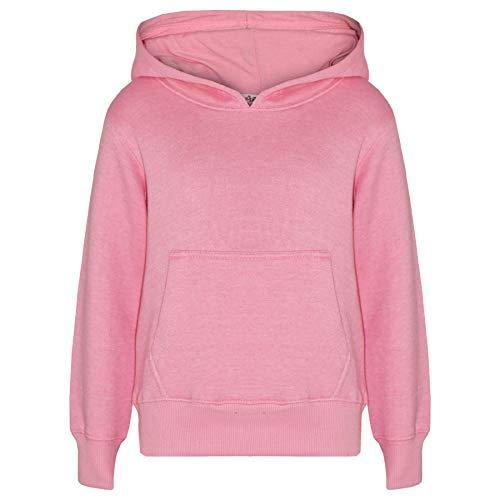 A2Z 4 Kids Kids Girls Boys Sweat Shirt Tops Casual Plain Pullover Sweatshirt Plain Sweat Hoodie Baby Pink 11 12