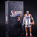 CJH NBA Allen Iverson Action Figure Philadelphia 76ers White Jersey Model Popular Cartoon Gift Toy Decorations Basketball Sports Doll Ornaments