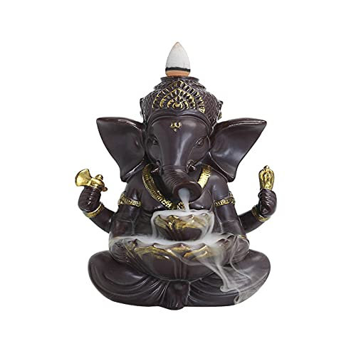 WQFJHKJDS Purple sand Elephant incense burner, Fengshui tea ceremony ornaments, with 200 reflux incense cones, aromatherapy ornaments and home decoration