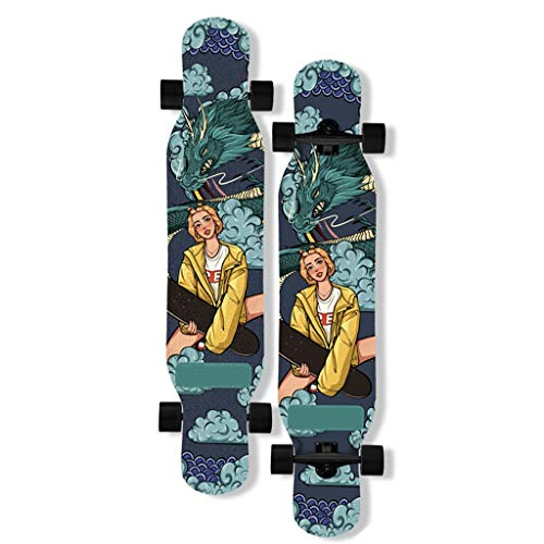 TYXTYX Longboard Special Edition Complete Board 46 Inches Drop-Through Longboard Skateboarding Skating, Outdoors, Sports and Leisure