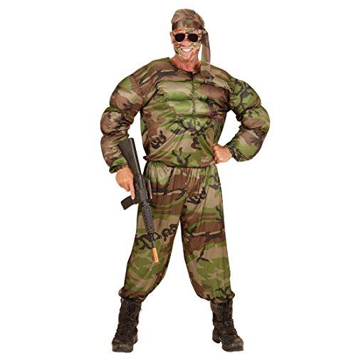 NET TOYS Disfraz Soldado musculoso Traje Hombre Militar L 52 ...