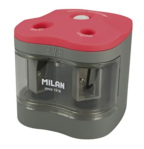 MILAN BWM10278 - Sacapuntas Power Sharp, Blanco, 7 X 6.5 Cm