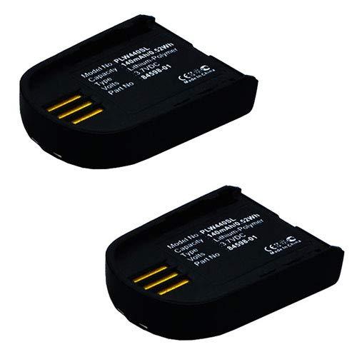 subtel 2X Batería Premium Compatible con Plantronics Savi 440, 740, W440, W440-M, W740, W740-M, W745, WH500, WH500A, 204755-01, 82742-01, 84598-01 140mAh Pila Repuesto bateria