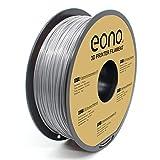 Amazon Brand-Eono Filamento PETG Sin Enredos para Impresora 3D, 1.75mm(± 0.03 mm), Gris Filamento de impresión 3D 1kg.