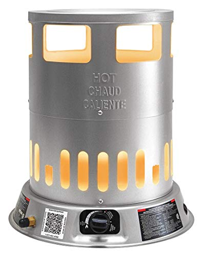 """DYNA-GLO 15-29/32"""" x 15-29/32"""" x 18-1/2"""" Convection Portable Gas Heater with 2000 sq. ft. Heating Area"""