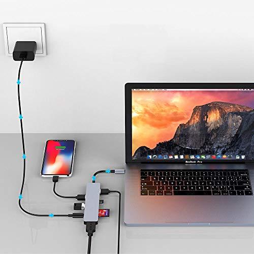 Callstel DisplayPort: USB-Hub DeX Smartphone-PC-Adapter, USB C PD, 3xUSB 3.0, HDMI, SD, 60W (USB C Docking)