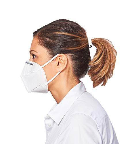 [10 Stück] 5-lagige Mund und Nasenschutz Maske Atemschutzmaske Halbmaske mit 95% Filtration und Aluminium Nasen Clip - 6