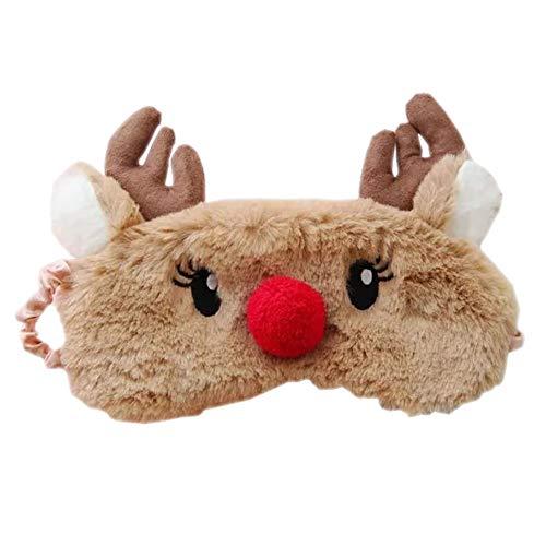HXINFU Kids Eye Mask Christmas Sleep Mask Elk Antler Cute Sleeping Mask Costume