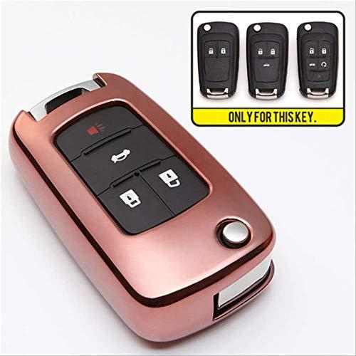 XVBTR TPU Schutz autoschlüssel Abdeckung Fall für Chevrolet Cruze 2011 Aveo t300 Captiva trax Tahoe Onix Camaro schlüsselanhänger Ring zubehörrosa