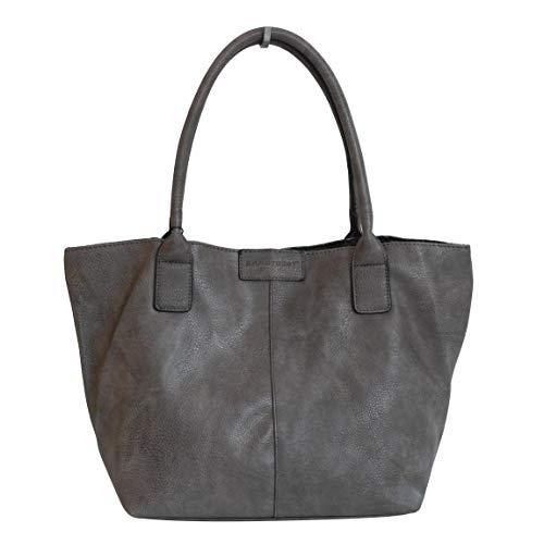 Damen Shopper von Bag Street -Handtasche Schultertasche Tragetasche Damentasche (Taupe) - präsentiert von ZMOKA®