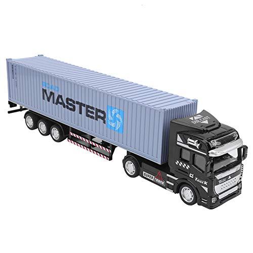 Annjom Juguete Modelo de camión de construcción Desmontable de simulación de aleación, Exquisito Juguete de camión contenedor(Gray, Cargo Truck)