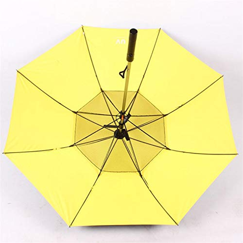 Cutogain Sombrilla, Sombrilla de Verano, Sombrilla de Mango Largo, Sombrilla de aspersor Manija Larga Sombrilla de enfriamiento de Verano Día lluvioso Soleado Doble propósito