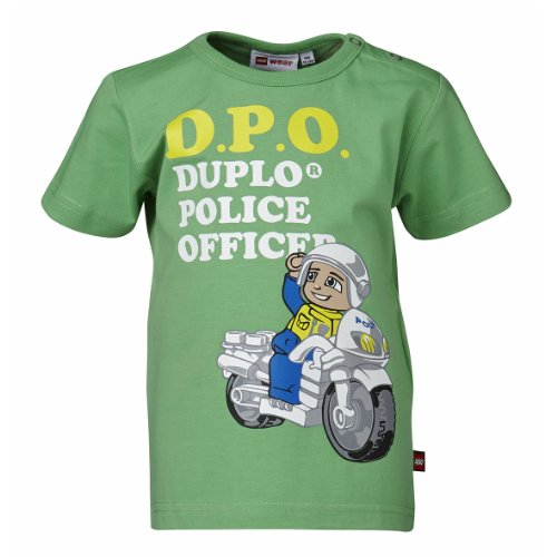LEGO Wear - Lego Duplo Police T-Shirt Tajs 306 - T-Shirt Garçon - Vert (PALE GREEN) - FR : 18 mois (Taille fabricant : 86)