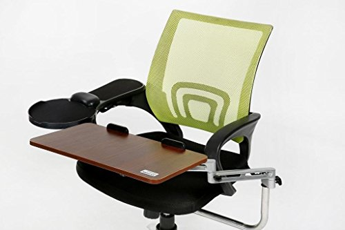 eLink Pro Chair Mount Ergonomic Keyboard / Laptop Tray System Plus Chair Mount Armrest/Mouse Tray _ Walnut