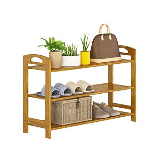 Schoenenrek 60 cm breed pantoffels plantenstandaard natuurlijk bamboehout vrijstaande ruimte draagbare handgreep (afmetingen: 60 x 26 x 108 cm) 60 x 26 x 51 cm.