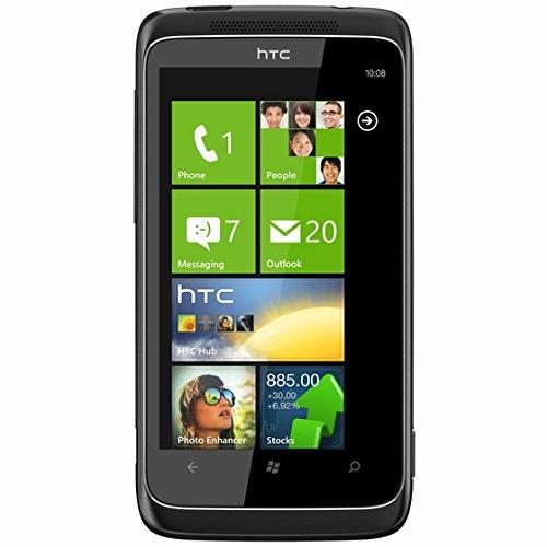 HTC 7 Trophy Smartphone (9,5 cm (3,8 Zoll) Bildschirm, Touchscreen, 5 Megapixel Kamera) schwarz