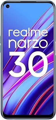 (Renewed) realme Narzo 30 (Racing Blue, 6GB RAM, 128GB Storage) Without Offers