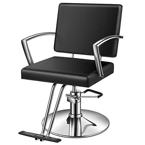 Baasha Styling Chairs Salon for Hair Stylist, Beauty Equipment Chair Black with Hydraulic Pump,...