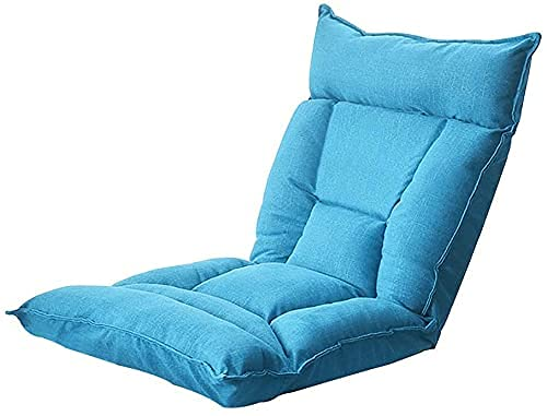 FGDSA Lazy Sofa Lounge Chair con Silla de Juego Acolchada para el hogar 5 Engranajes Respaldo Ajustable Silla de meditación Plegable Asiento en el Piso con Forro Independiente para Adultos niños