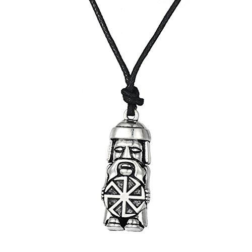 Skyrim Amulett Talisman Halsketten mit Domovoi GreyBeard Anhänger, verstellbare Kette für Herren Schmuck