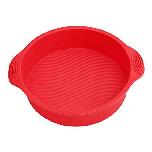 Sperrins Kitchen Craft Silicone Cake Mould Réutilisable Anti-Adhésif en Silicone Caissettes, Rondes (Rouge)