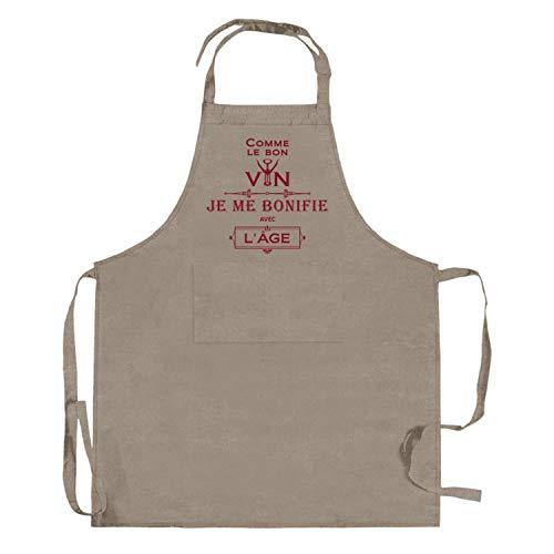 Winkler - Tablier de cuisine à poche – 85x72 cm – Protection 100% coton - Blouse adulte lavable – Sangle ajustable
