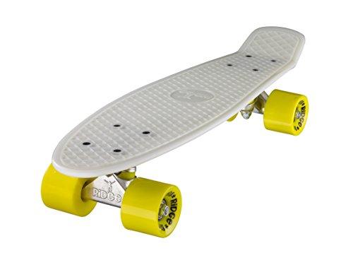 Ridge Skateboards Glow in the Dark Mini Cruiser Board Skateboard, komplett, 55cm