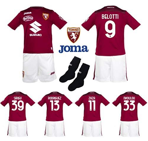 Joma Completo Gara Ufficiale Torino FC 2020/2021 Originale 100% Taglie Bimbo e Neonato Sirigu Belotti Verdi Zaza (12 Mesi)