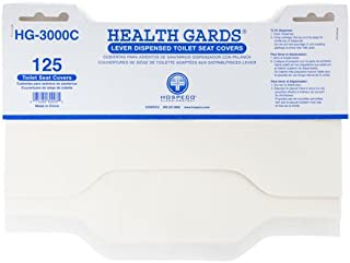 Hospeco HG-3000C Health Gards Lever Dispensed Half-Fold Toilet Seat Covers with 125 Seat Covers per Pack, 24 Packs per case, White (Pack of 3000)