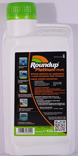 MONSANTO DISERBANTE Totale A Base di GLIFOSATE Roundup Platinum Confezione da 500 ML