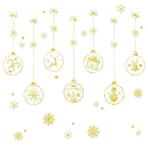SHE.White Fensterbilder Weihnachten Wandaufkleber, Winter-deko Weinachts Dekoration, Weihnachten Fenstersticker, Fensteraufkleber PVC Fensterbilder Weihnachten Fensterdeko selbstklebend Fensterfolie
