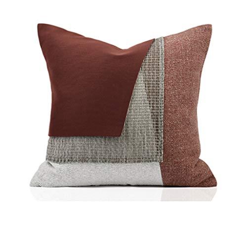Pillow Sofá Minimalista Moderno Simple Modelo habitación Costura roja cojín de Almohada Personalizado