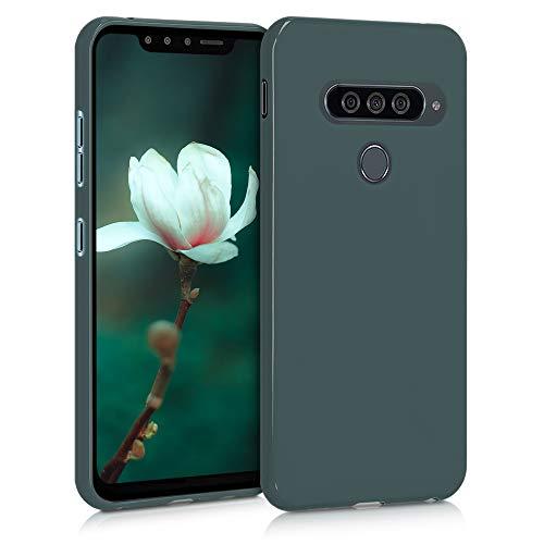 kwmobile Hülle kompatibel mit LG G8s ThinQ - Hülle Silikon - Soft Handyhülle - Handy Hülle in Blaugrün