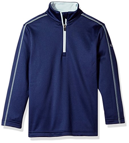 Puma Golf 2017 Kids Fleece 1/4 Zip Popover Peacoat, Medium