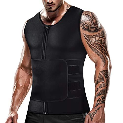 Cimkiz Men's Sauna Sweat Slimming Shorts Neoprene Exercise Pants for Workout Sweat Body Shaper Size XL