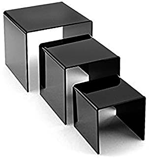 Adorox Top Quality Black Acrylic Display Riser (1 set)