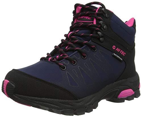 Hi-Tec Raven MID WP Womens Walking Shoe, Navy/Magenta, 7 UK