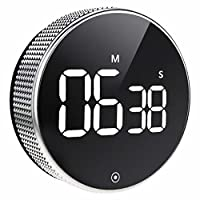 BOSAI Timer da Cucina, LED Cronometro o Conto alla Rovescia Digitale Timer per Cucina,Knob Twist Design,Cottura, Classe, Studio e Allenarsi, Magnetico Countdown Contaminuti, Egg Timer