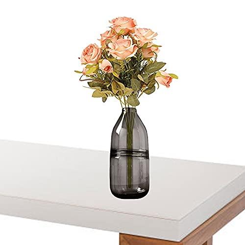 LXLAMP Jarrón, jarrones Decorativos Vintage florero Cristal Alto Jarron Grande de Suelo para la Decoración del Escritorio de la Oficina en el Hogar, Cena, Fiesta y Bodas (Color : Gray)