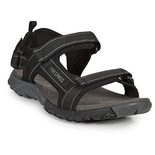 TRESPASS ALDERLEY-Male Walking Sandal, Sandalias Hombre, Negro Black, 40 EU