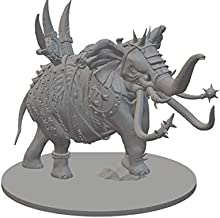 HERO Creations - War Elephant Miniature for Dungeon and Dragons - Pathfinder - Roleplaying Game-Tabletop -wargame (Gray)