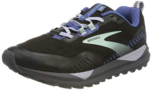 Brooks Cascadia GTX 15, Zapatillas para Correr Mujer, Black Marlin Blue, 37.5 EU