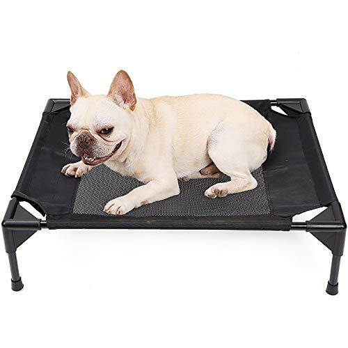 JIEUO Hundebett Sommer Atmungsaktiver Kennel Super Licht Zusammenklappbar Hund Campingbett Abnehmbare Und Waschbare Hund Hängematte Zwei Größen,L