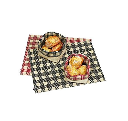 Lot de 6 Sets de Table Vichy en Rouge - 40 x 29 cm